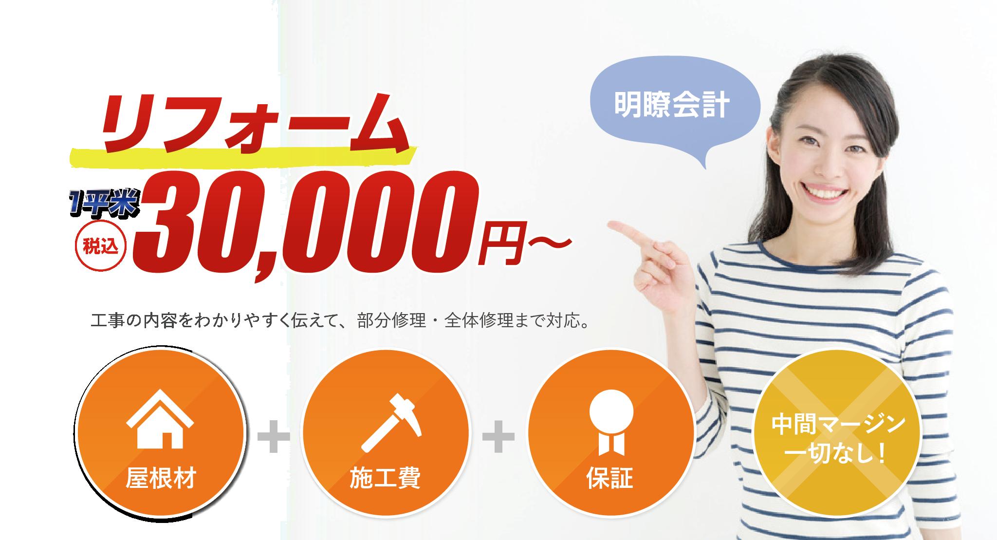ポッキリ価格に挑戦!50,000円でスピード修正!!